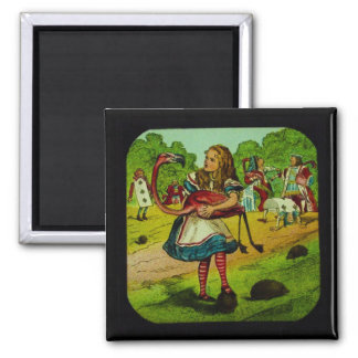 Alice in Wonderland Flamingo Croquet Magnet