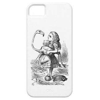 Alice in Wonderland flamingo croquet vintage print Case For The iPhone 5