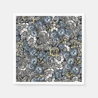 Alice in Wonderland Floral Garden Napkins Paper Napkin