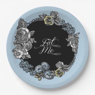 Alice in Wonderland Floral Paper Plate