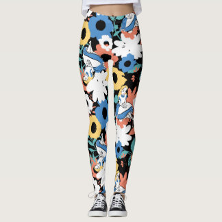 Alice in Wonderland Floral Retro Pattern Leggings