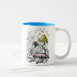 Alice in Wonderland Flying Playing Cards Mug