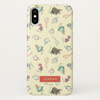 Alice In Wonderland & Friends | Add Your Name iPhone X Case