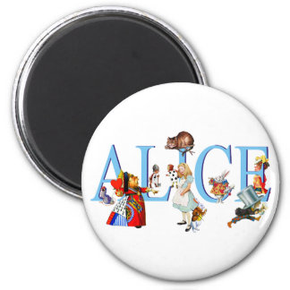 ALICE IN WONDERLAND & FRIENDS MAGNET