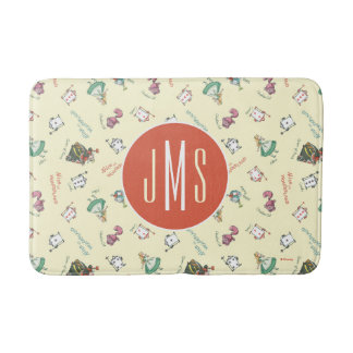 Alice In Wonderland & Friends | Pattern - Monogram Bath Mat