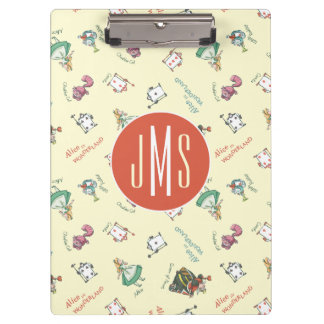 Alice In Wonderland & Friends | Pattern - Monogram Clipboards