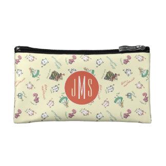 Alice In Wonderland & Friends | Pattern - Monogram Cosmetic Bag