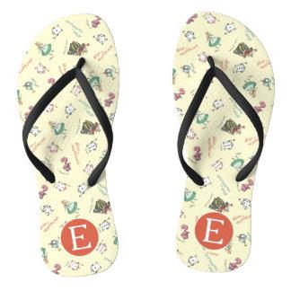 Alice In Wonderland & Friends | Pattern - Monogram Flip Flops