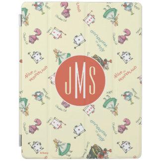 Alice In Wonderland & Friends   Pattern - Monogram iPad Cover