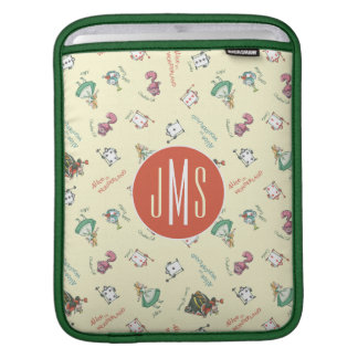 Alice In Wonderland & Friends | Pattern - Monogram iPad Sleeve