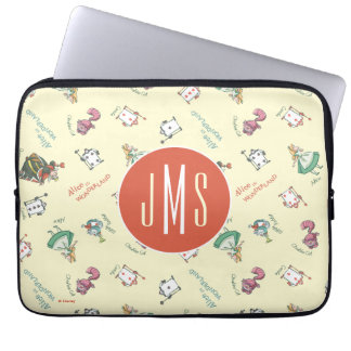 Alice In Wonderland & Friends   Pattern - Monogram Laptop Sleeve