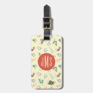 Alice In Wonderland & Friends | Pattern - Monogram Luggage Tag
