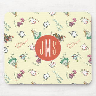 Alice In Wonderland & Friends | Pattern - Monogram Mouse Pad