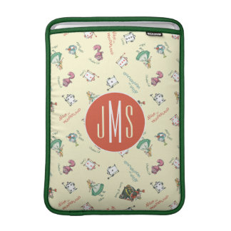 Alice In Wonderland & Friends | Pattern - Monogram Sleeve For MacBook Air