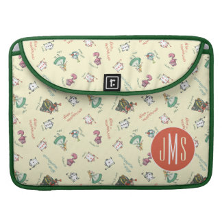 Alice In Wonderland & Friends | Pattern - Monogram Sleeve For MacBook Pro