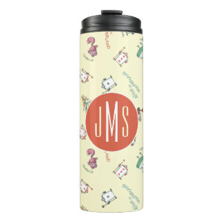 Alice In Wonderland & Friends | Pattern - Monogram Thermal Tumbler