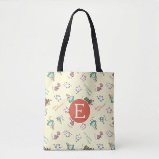Alice In Wonderland & Friends | Pattern - Monogram Tote Bag