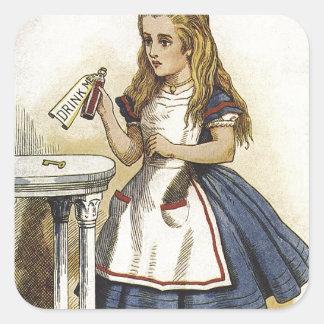 Alice in Wonderland fun Square Sticker