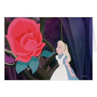Alice in Wonderland Garden Flower Film Still Greeting Card