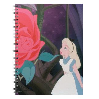 Alice in Wonderland Garden Flower Film Still Spiral Notebook