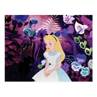 Alice in Wonderland Garden Flowers Film Still Postcard