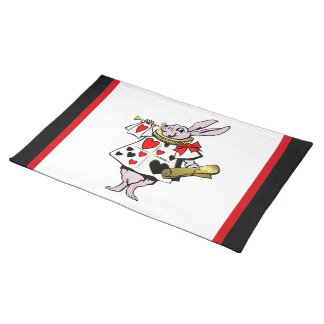 Alice in Wonderland Hare, Card and trumpet - Tale Placemat