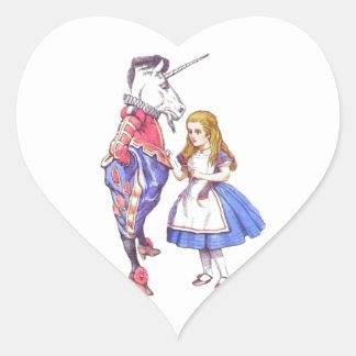 Alice in Wonderland heart stickers