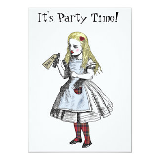 "Alice in Wonderland Hogmanay Party Invitation Card 5"" X 7"" Invitation Card"