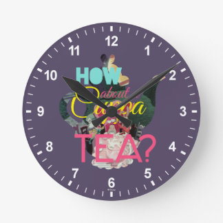 Alice In Wonderland | How About A Cuppa Tea? Round Clock