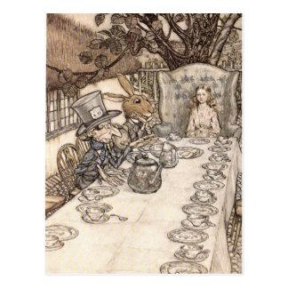 Alice in Wonderland Illustration Mad Hatter Postcard