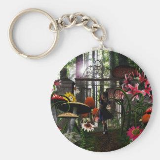 Alice in wonderland key chain