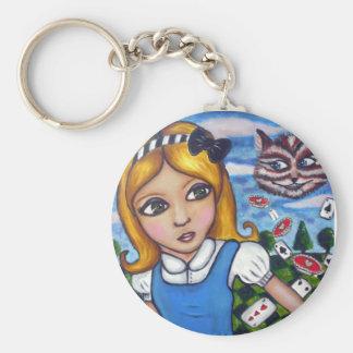 Alice in wonderland keyring
