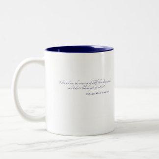 Alice in Wonderland-literary quote Two-Tone Coffee Mug
