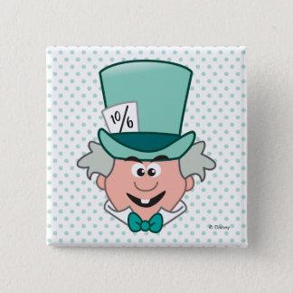 Alice in Wonderland | Mad Hatter Emoji 2 Inch Square Button
