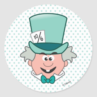 Alice in Wonderland | Mad Hatter Emoji Classic Round Sticker