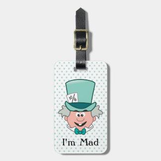 Alice in Wonderland | Mad Hatter Emoji Luggage Tag