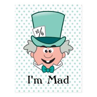 Alice in Wonderland | Mad Hatter Emoji Postcard