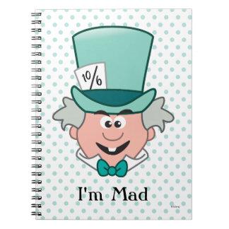 Alice in Wonderland | Mad Hatter Emoji Spiral Notebook