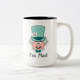 Alice in Wonderland | Mad Hatter Emoji Two-Tone Coffee Mug