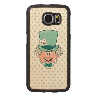 Alice in Wonderland | Mad Hatter Emoji Wood Phone Case