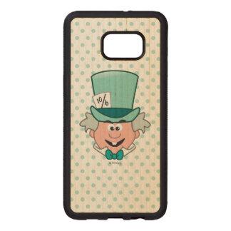 Alice in Wonderland | Mad Hatter Emoji Wood Samsung Galaxy S6 Edge Case
