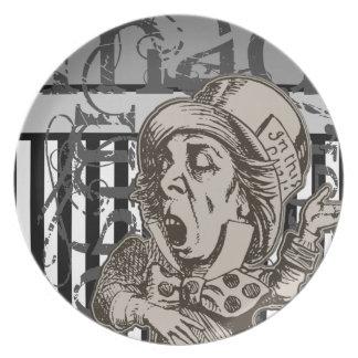 Alice In Wonderland Mad Hatter Grunge Plates