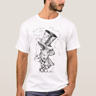 Alice In Wonderland: Mad Hatter Sketch T-Shirt