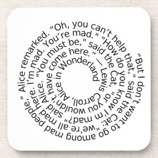 Alice in Wonderland Mad quote coaster set of 6