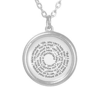 Alice in Wonderland Mad quote pendant necklace