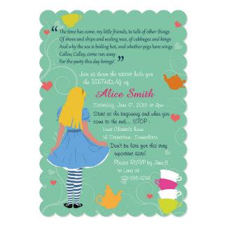 Alice in wonderland mad tea party birthday invites