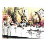 Alice in Wonderland Mad Tea Party Postcard