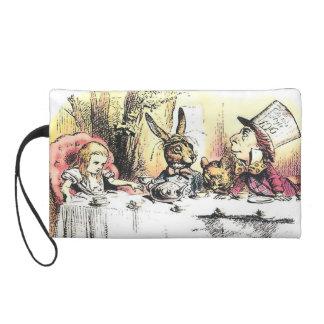 Alice in Wonderland Mad Tea Party Purse Wristlet