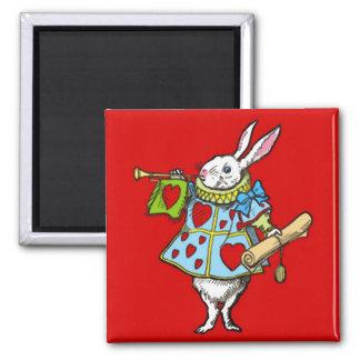 Alice in Wonderland Magnet Rabbit Hearts Red