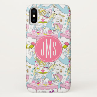 Alice in Wonderland | Monogram Oversized Pattern iPhone X Case